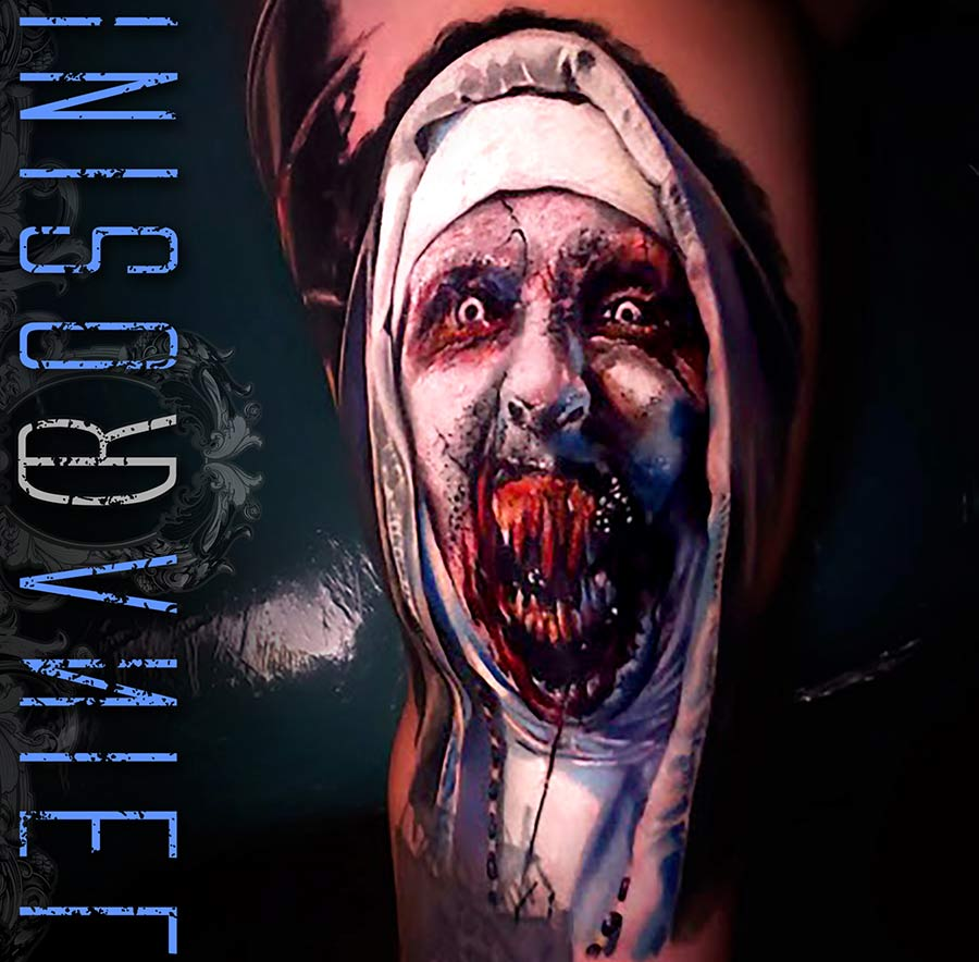 Daniel Rosini - Tattoos - Pure Ink Tattoo New Jersey - The Nun