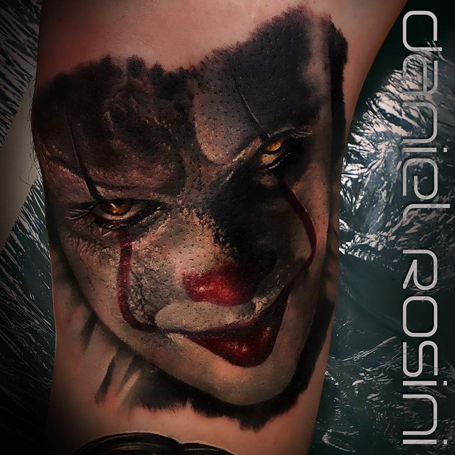 Daniel Rosini - Tattoos - Pure Ink Tattoo New Jersey - Pennywise It Movie